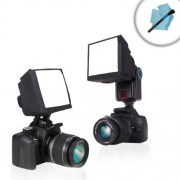 Universal Studio Soft Box Flash Diffuser for Pop-Up Flashes and External Speedlites by ENHANCE - Works With Pentax...