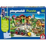 Schmidt - Playmobil Puzzle per Bambini, Tematica: Alla Fattoria