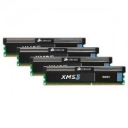Memorie Corsair XMS3 32GB (4x8GB) DDR3, 1600MHz, PC3-12800, CL11, Quad Channel Kit, CMX32GX3M4A1600C11