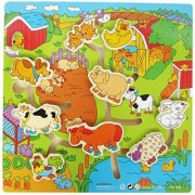 Goodlucky365 12 *12 *0.5 size farm toys wooden farm maze for children to learn knowledge of farm animals help the animal