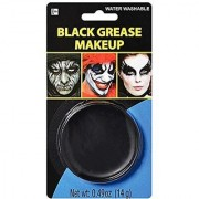 Amscan Party Ready Face Paint Style Grease Makeup Kit Black 6.5 X 3.5