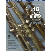 18 Jazz Duets for Two Trumpets Music Minus One Trumpet Student Edition by Burt Collins