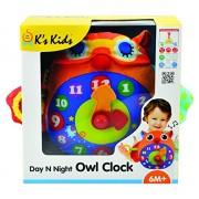 K Kids - Gufo a forma di orologio, giorno e notte (KA10662)