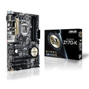 Asus Z170-K Intel Scheda Madre, DDR4 1151, Nero