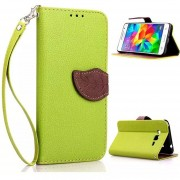 MULBA For Galaxy Grand Prime G530H Stand PU Green Leather Case Folio Protective Cover for Samsung Galaxy Grand Prime SM-G530H