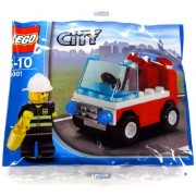 LEGO City Exclusive Mini Figure Set #30001 Firemans Car Bagged