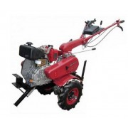 Motocultor diesel Gardelina 610 WM cu roti cauciuc 400x8, plug LY reversibil, plug cartofi si rarita fixa