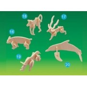 Puzzled - Mini 3D Puzzles - RHINOCEROS (8 Pieces) by Puzzled