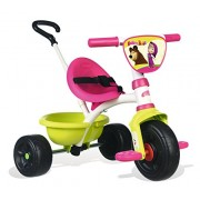 Smoby 7600740300 Child tricycle tricycle - tricycles (Child tricycle, Chica, Front drive, Vertical, Inflable, Negro, Oliva, Rosa, Color blanco)