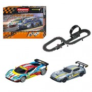 Carrera GO!!! 20062396 - Set Costruzioni Speed 'N Race: Mercedes-Amg GT3 No.16 + Ferrari 458 Italia GT 2AF Corse, No.51, 5.4 m