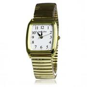 Masculino Relógio Elegante Quartz Banda Prata / Dourada marca-