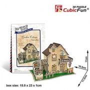 Cubicfun Cubic Fun 3d Puzzle Model 36pcs France Flavor Garden Cottage