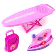VT Happy Family 'My Iron Board Set' Toy Iron Board Playset w/ Clothes Iron, Ironing Board