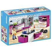 Playmobil Mansión Moderna de Lujo - Cocina de diseño abierto, playset (5582)