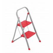 Framar Slimmy 2 háztartási acél létra 1+1 fokos piros