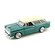"Motormax GOTZMM73248GR 1:24 Scale Green ""1955 Chevrolet Bel Air Nomad"" Die Cast Model Car"