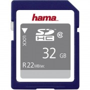 Hama Speicherkarte SecureDigital High Capacity Gold, 32 GB