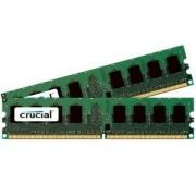 Crucial 2GB kit (1GBx2), 240-pin DIMM, DDR2 PC2-6400, ECC, CL=6, 1.8v