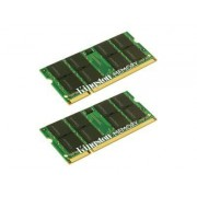 Kingston - DDR2 - 4 Go : 2 x 2 Go - SO DIMM 200 broches - 667 MHz / PC2-5300 - mémoire sans tampon - non ECC - pour Apple iMac\; MacBook\; MacBook Pro