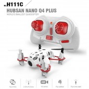 Hubsan H111C mini nano HD camara 2.4G 4CH RC quadcopter - blanco