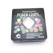 Joc de poker cu jetoane si 2 perechi de carti