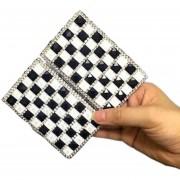 Caja doble del Rhinestone de la caja del sostenedor o Mujeres largo regalo, blanca