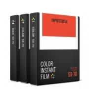 Impossible Film Pachet triplu pentru Polaroid SX-70 (2x4512, 1x4513)