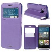 Korean Roar Wallet Case Cover for HTC One M9 - Purple