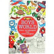 Uitgeverij Deltas BoysWorld tekenboek