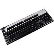 HP KU-0316 DOM Silver Black USB Keyboard 434821-003