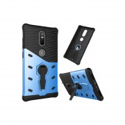 For Lenovo Phab2 Plus Shock-resistant 360 Degree Spin Sniper Hybrid Case Tpu + Pc Combination Case With Holder(blue)