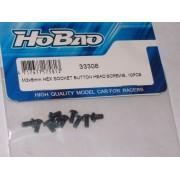 HoBao 33306 M3 x 6mm Button head screws. (10)