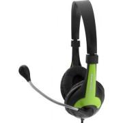 Casti Stereo cu microfon ESPERANZA EH158G (Negru/Verde)