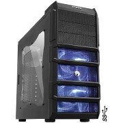 Gabinete Pcyes ATX Gamer Rhino s/ Fonte 3 Fan com Led Azul