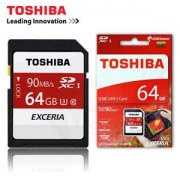 Toshiba Exceria 64GB SDXC UHS-1 Class 3 Memory Card Ideal For Full HD Video & 4K Video Recording - Read Speed 90mb/s For DSLR's,Digital Cameras & Camcorders