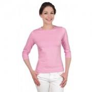 Tee-shirt couleur unis femme, manches 3/4