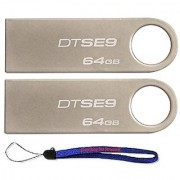 Kingston Digital Datatraveler Se9 64Gb Usb 2.0 (Dtse9H/64Gb) 64Gb (2 Pack) Flash Drive Jump Drive Pen Drive - W/ (1) Eve