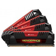 Corsair CMY32GX3M4C1600C9R Vengeance Pro Memorie DDR3L 32 GB, 4x8 GB, Low Voltage 1600 MHz, CL9 XMP, Red