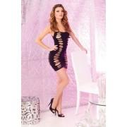 Crna haljina sa prorezima PINKLIP025