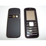 Carcasa telefon Nokia 6080 fata + spate negru/auriu