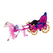 Globo Toys Globo - 36773 Donna Horse with Mane Comb and Carriage
