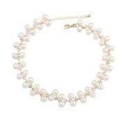 BAGISIMO Luxusní perlový náhrdelník s kamínky