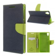 Korean Mercury Fancy Diary Wallet Case for HTC Desire 820 Blue