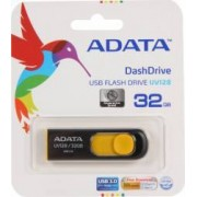 USB Flash Drive ADATA DashDrive UV128 32GB USB 3.0 Negru-Galben