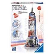 Puzzle 3D Ravensburger Empire State Building Flag Edition 216 Pieces