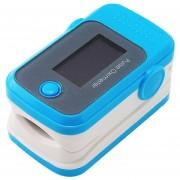 Color OLED Oximetro Con Alarma Audio Y Sonido Del Pulso Spo2 Monitor Carejoy 8B Azul