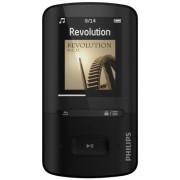 Philips SA4VBE08KF Lecteur mp4 GoGear Vibe 8 Go jusqu'à 20h d'autonomie, radio FM, charge ultrarapide, Noir