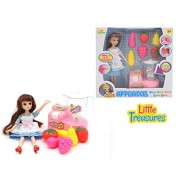 Doll Playset Mini Modern Kitchen Pretend Playset With A Fruit Blender And Toy Fruits To Make Healthy Smoothies And Playtime Fun From Little Treasures