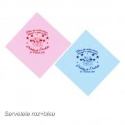 Servetele Roz Si Bleu