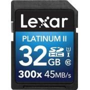 Card de memorie Lexar SDHC Platinum II 300x 32GB, UHS-I, 45MB/s (Clasa 10)